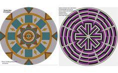 motivos circulares para tejido de punto mandala