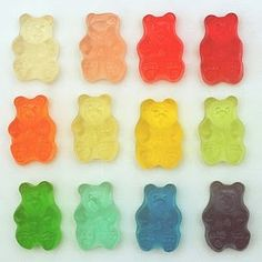 All of the colors in the rainbow in a tiny gummy package! Gummy Bears are one of our most popular toppings; whether you're a kid or just a kid at heart, Gummy Bears pack your fro-yo with fun! Creative Studio, Kawaii, Sweet Party, Alluka Zoldyck, Things Organized Neatly, Doja Cat, Gummy Bears, Jelly Bears, Color Stories