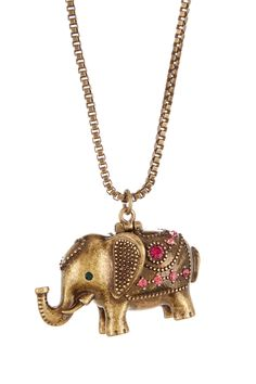 Betsey Johnson | Elephant Pendant Necklace | Nordstrom Rack