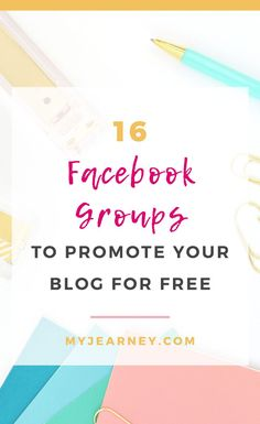 If you're looking for Facebook groups to promote your blog for free, then you've come to the right place. Here are 16 Facebook groups where you can promote your blog for free. #facebook #socialmedia… More