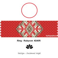 peyote ring patternPDF-Download 240R beading pattern