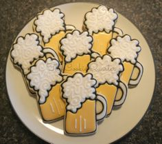 Beer Decorated Cookies Birthday Party Cookies Party Favors on Etsy, $36.00