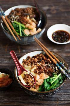 Malaysian Hand-Torn Noodles (Mee Hoon Kueh or Pan Mee)
