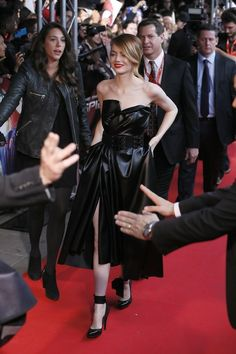OK, back to dresses. Like this badass black dress that makes her look like the dominatrix-next-door. | 31 Photos That Prove Emma Stone Is The Most Stylish Person On Earth