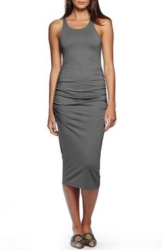 Michael Stars Ruched Side Racerback Midi Dress available at #Nordstrom