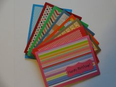 Pattern Happy Birthday Card Set 8pk by MegansPaperCreations, $12.50