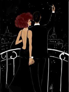 Art by Niki's Groove. Black Love Art, Black Girl Art, Black Girl Magic, Art Girl, Black Girls, Black Women, Arte Black, Natural Hair Art, Black Art Pictures
