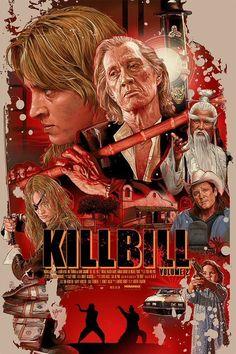 Kill Bill: Volume 2 by Juan Carlos Ruiz Burgos - MoviePosterPorn Action Movie Poster, Best Movie Posters, Classic Movie Posters, Movie Poster Art, Action Movies, Scary Movie 2, Quentin Tarantino Films, Cult Movies, Indie Movies