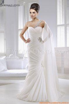 Ärmallos Herz-enck  Elegante Brautkleider 2014 aus Organza mit Perlenstickerei