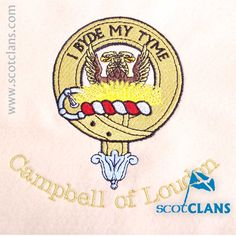 Campbell of Loudon Custom Embroidery @scotclan. Free worldwide shipping available