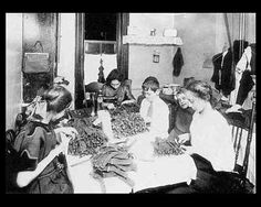 Piecework being done at home, Lewis Hine