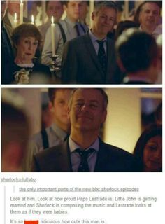 Gotta love Papa Lestrade XD
