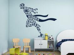 ik2573 Wall Decal Sticker sport athlete winner bathroom children's bedroom