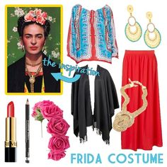 { Read Part 1 Here } I'm back with more DIY Halloween costume ideas - let's just get started! DIY Frida Kahlo Costume This cost. Costume Halloween, Halloween Outfits, Holidays Halloween, Diy Costumes, Costumes For Women, Halloween Diy, Costume Ideas, Mexican Costume, Mexican Party