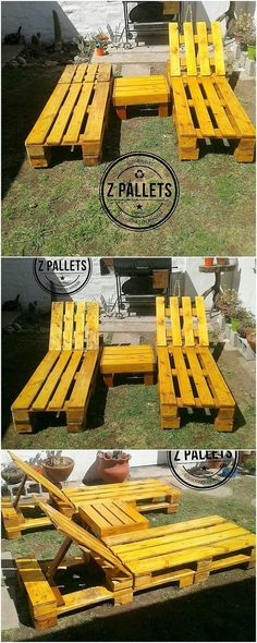 Check out this fabulous creation of the sun lounger set of wood pallet. In first gaze you will probably be getting the feeling as if hard to sit on it. But this conception is completely wrong. This is so brilliant looking for the larger gatherings or parties in your houses.
