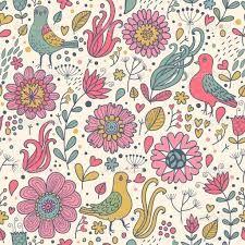 květiny a ptáci