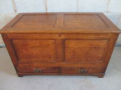 Victorian oak blanket chest. 45 inches wide. £475 Blanket Chest, Scottish Castles, Coffer, Hope Chest, Vr, Attic, Storage Chest, Drawers, New Homes