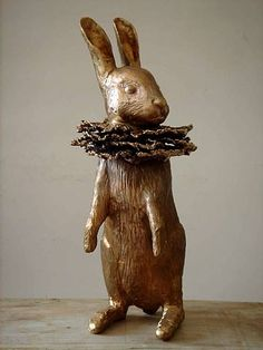...I could put a fluted paper collar around the neck of my Christmas reindeer...too cool.... Les Lalanne Rabbit