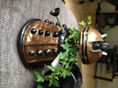 Dalek (from Doctor Who) planter. Found on Craftster
