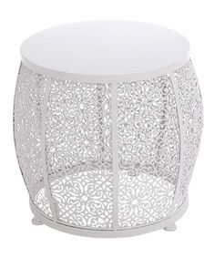 Look what I found on #zulily! White Accent Table #zulilyfinds