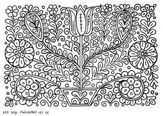 Hungarian(Kalotaszegi) Flowers embroidery patterns:)