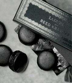 Ladurée has paired with Reed Krakoff to deliver a set of black macarons exclusively available during New York Fashion Week at a single location.