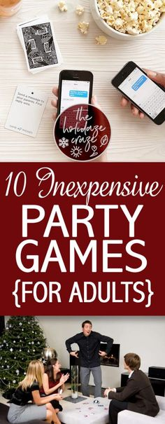 10 Inexpensive Party Games {For Adults} * The Holidaze Craze