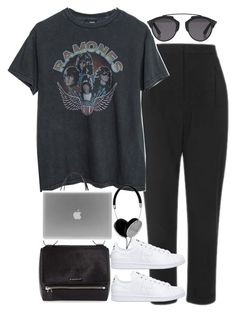 """Untitled #2051"" by roxy-camarena ❤ liked on Polyvore featuring Topshop, Brandy Melville, Christian Dior, adidas, Frends and Givenchy"