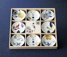 Amazon.co.jp: るり 八客小皿揃 04524: ホーム&キッチン