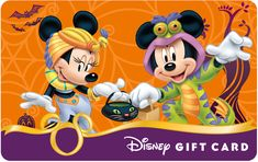 Celebrate Halloween with New Disney Gift Card Designs