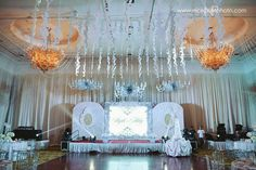All-white decor with a pop of color defined the twins' debut. Debut Themes, Debut Ideas, White Decor, All White, Color Pop, Birthday Ideas, Twins, 18th, Chandelier