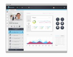 Sysmael - Content Management System by Marco Coppeto, via Behance