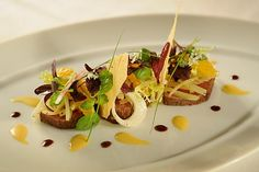 Smoked Bison with Fennel and Oranges