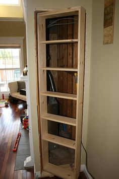 Ideas For Hidden Door Interior Panic Rooms Hidden Bookshelf Door, Bookcase Door, Door Shelves, Bookshelf Diy, Diy Bookcases, Hidden Spaces, Hidden Rooms, Bedroom Closet Doors, Room Doors