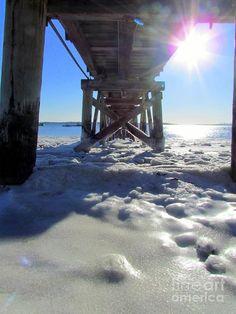 Under The Frozen Boardwalk  Photograph  - Swampscott Beach - Massachusetts - USA
