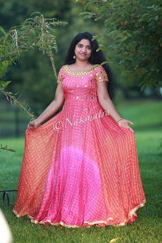 Long Gown Dress, Frock Dress, Long Frock, Long Dress Design, Dress Neck Designs, Blouse Designs, Kalamkari Dresses, Ikkat Dresses, Indian Designer Outfits