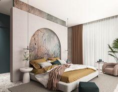 Master Room, Master Bedroom Design, Office Interior Design, Luxury Interior, Minimal House Design, Home Entrance Decor, Side Tables Bedroom, Bathroom Design Small, Behance