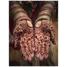 Bride's Palms. 60 hours post-henna application.