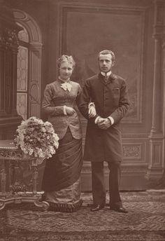 Crown Prince Rudolf of Austria and fiancéStephanie of Belgium