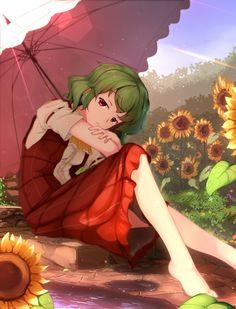 Yuuka relaxing in her garden