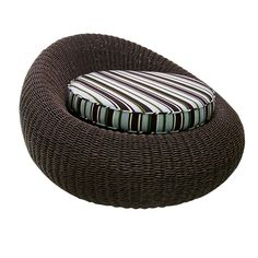 The Bon Bon Chair, Resin Weave from Walters Wicker Exterior Collection.