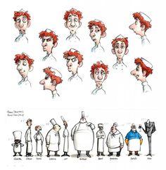 pixar. character design for ratatouille.