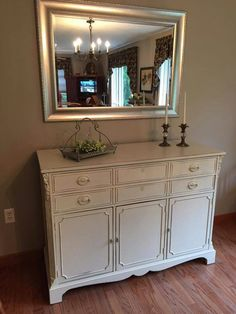 Buffet painted in our Classic Chic Distressed finish!