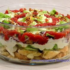 Party Salads, Healthy Desserts, Hot Dogs, Salad Recipes, Food Porn, Food And Drink, Easy Meals, Cooking Recipes, Yummy Food