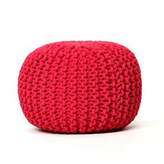 Knitted Pouf Red, 68€, now featured on Fab.