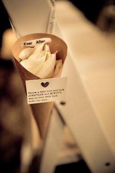 wedding cones for petals