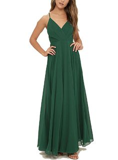 GeSen Cheap V Neck Evening Dresses Plus Size For Women Formal Bridesmaid Dress -- Check out this great image  : Bridesmaid Dresses