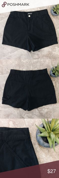 """🆕 High-waisted, Black Shorts Full front and back pockets. High-waisted and short, at 3.5"""" inseam. Zip fly with button closure. 100% cotton, very soft. No fade or wear.   • All garments are lightly worn • 1-2 day shipping • 20% off bundles 3+ • Happy to accept reasonable offers • Questions welcomed! New York & Company Shorts Jean Shorts"""