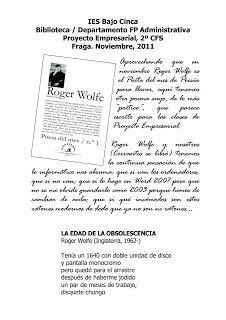 Biblioteca del IES Bajo Cinca: Informática y poesía en Proyecto Empresarial