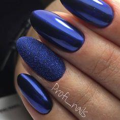Blue nail art inspiration no 4 clubboxingday clicrabai Pink Gel Nails, Sexy Nails, Prom Nails, Trendy Nails, Royal Blue Nails, Glittery Nails, Perfect Nails, Gorgeous Nails, Fire Nails
